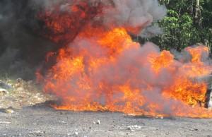 La destrucción de los narcóticos, en cumplimiento de la Ley 50-88 sobre Drogas y Sustancias Controladas, fue realizada en el recinto del Ejército de la República Dominicana, en el municipio de Pedro Brand.