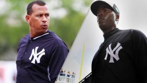 Aroldis Chapman es la noticia más importante en los entrenamientos de los Yankees, pero Alex Rodríguez siempre tendrá su buena cuota de ojos encima de él. USA TODAY Sports.