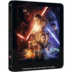 Carátula provisional del DVD de Star Wars VII: el despertar de la fuerza.