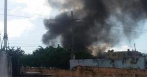 Incendio en envasadora de gas Mario Gas ubicada en Alma Rosa II en Santo Domingo Este.