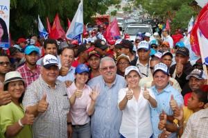 Carolina, Ruben, Jose Enrique, Iris y Dominguez en  Recorrido en Santiago
