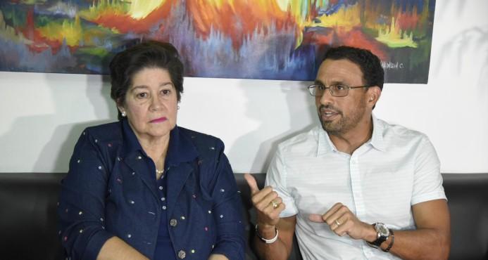Miguelina Llaverías y Jordi Veras