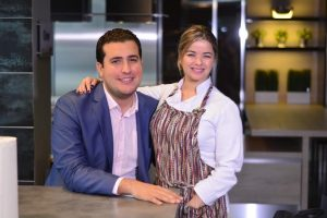 Jorge feliz Pacheco y Katherine Lemoine